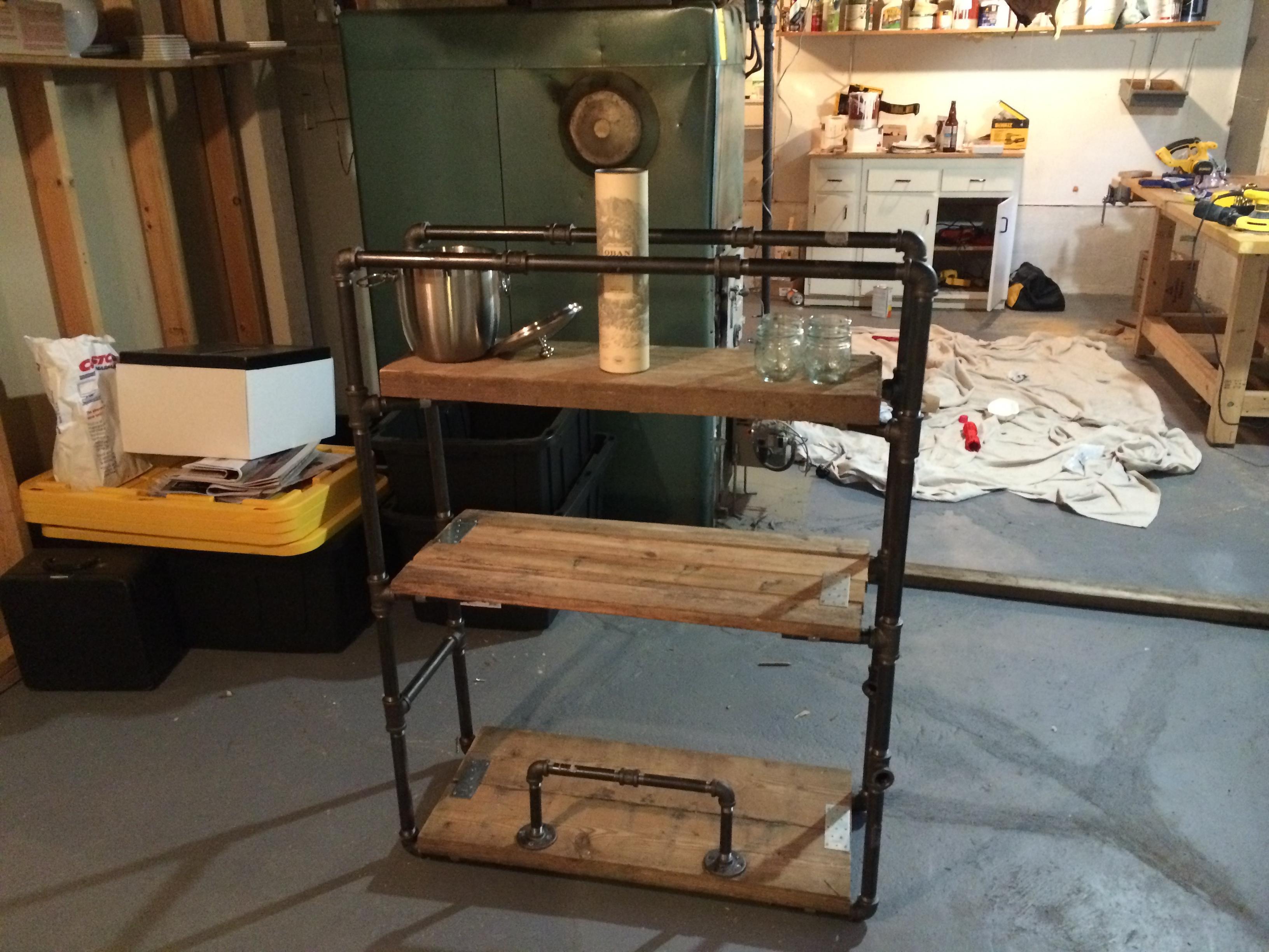 diy bar cart invisibly imperfect. Black Bedroom Furniture Sets. Home Design Ideas