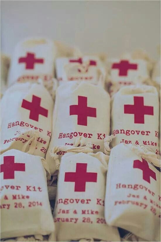 Emergency Hangover Kit Inspiration from Pinterest