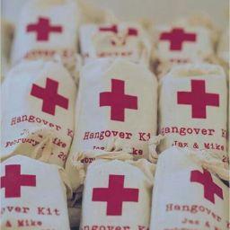 DIY Wedding – Emergency Hangover Kits