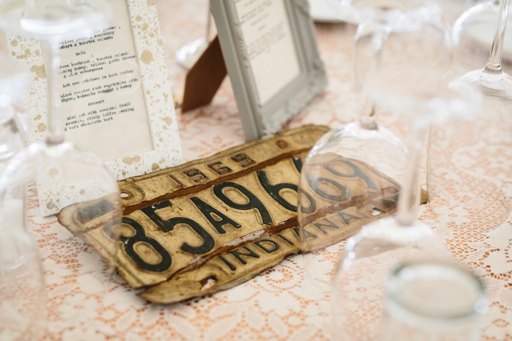 Vintage License Plates for Table Numbers