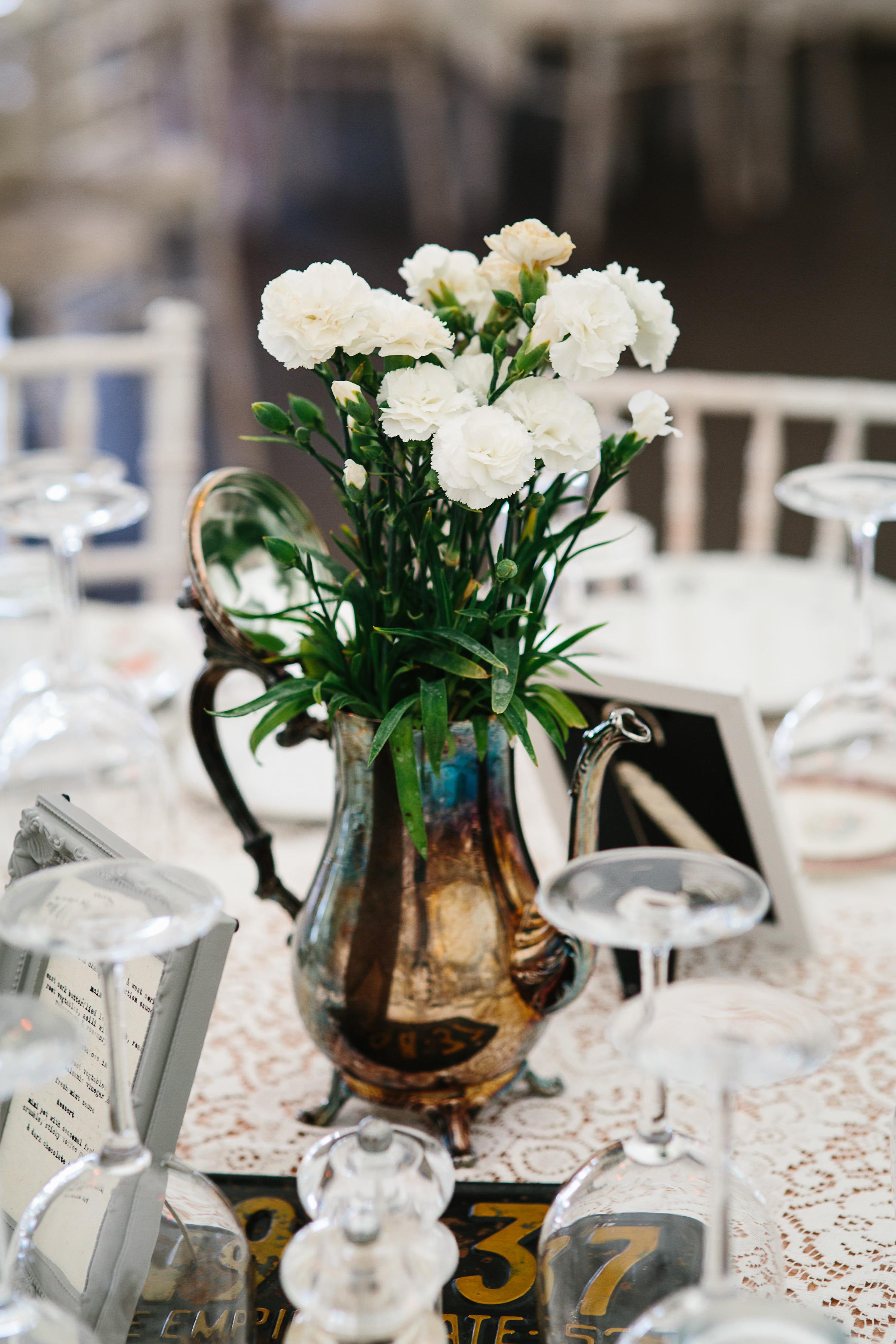 Floral Decoration French Vintage Coffee Pot Flower Vase Wedding Decoration French Vintage French Antique Teapot old Table Decoration