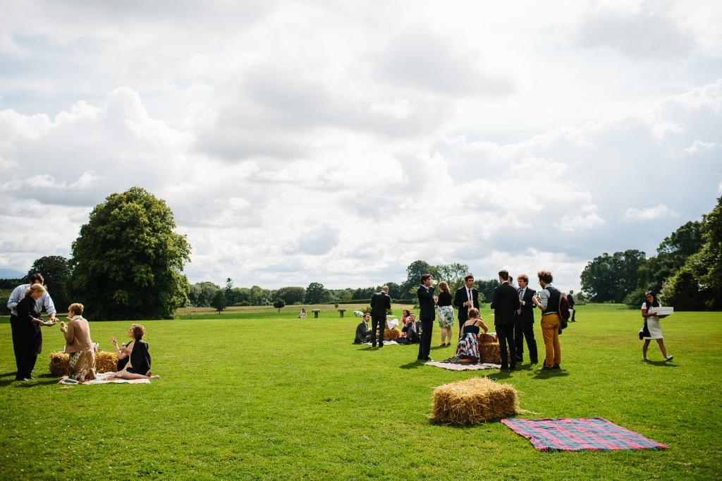 Guests Enjoying the Picnic