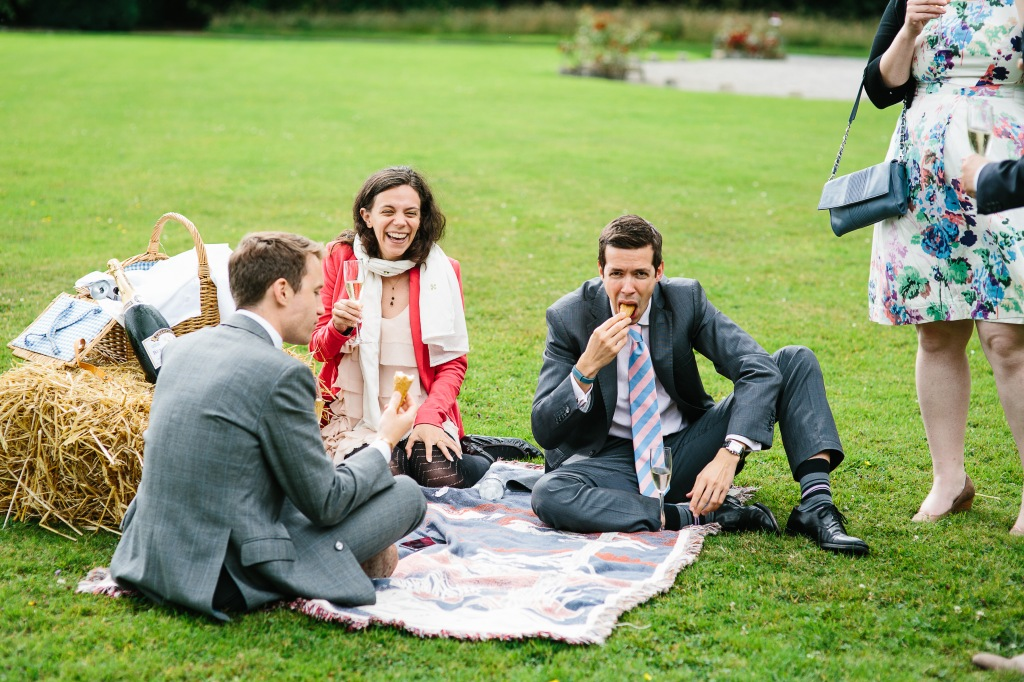 Guests Enjoying the Picnic